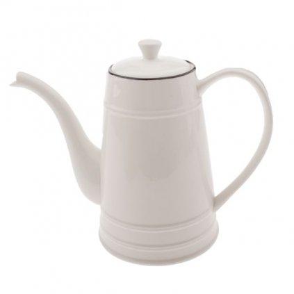 porcelánový čajník s uškom biely 0/24 26 × 12 × 21(1000ml) cm