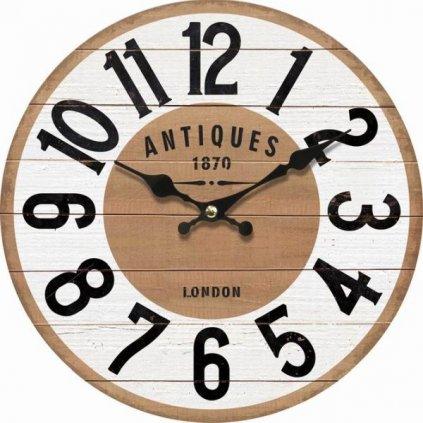 hodinky nástenné s veľkými číslami drevené 34×34×1cm