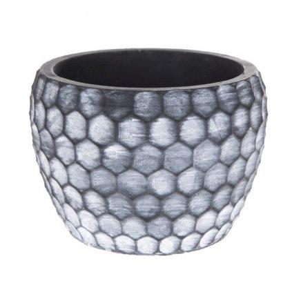 Betonový kvetináč sivý ,15,5x11x15,5cm