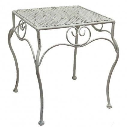 Kovový stolík veľky biely 30x30x36cm