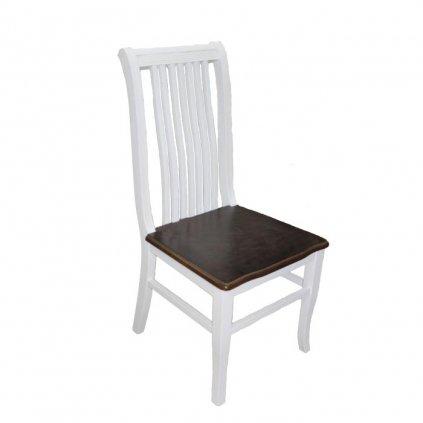Drevená stoličkaProvence,prevedenie masív,bielohnedá kombinácia,47x53x97cm
