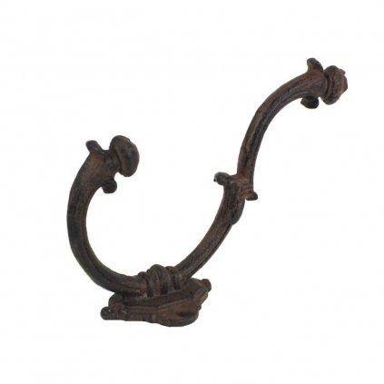 Liatinový vešiak hrdza 18,5x5,5x12cm