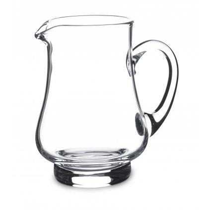 džbán priehľadne sklo 13x11x7cm