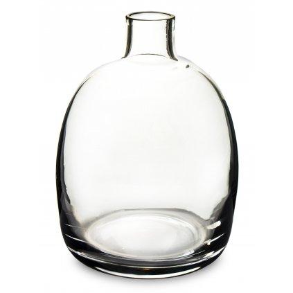 váza priehľadne sklo/ karafa 18x13,5x13,5cm