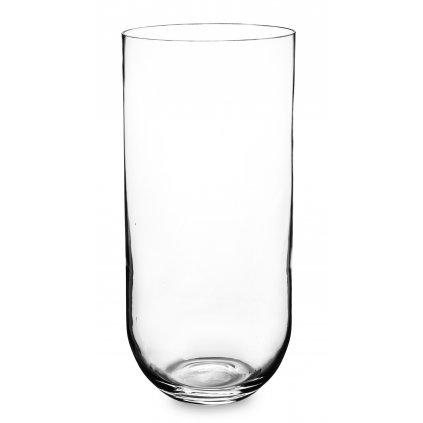 Sklenená váza priehľadná okrúhla 39,5x18x18cm