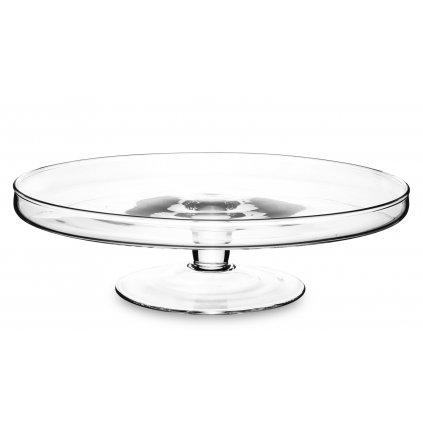 Sklenený podnos priehľadný okrúhly,8x29x29cm