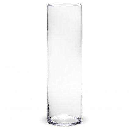 Sklenená váza priehľadná valec 50x14,5x14,5cm