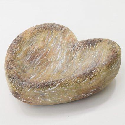 KRMÍTKO srdce dekor drevo Polyresin  30,5X30X10,5CM