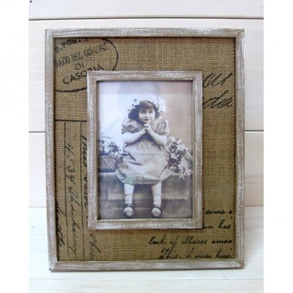 Drevený retro rámik 28x23 cm MU0026