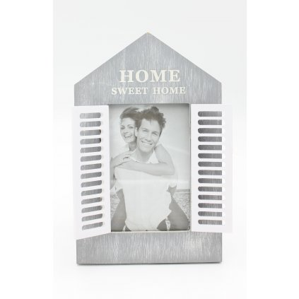 Fotorámik okenica HOME SWEET HOME šedá 26x16cm 4759691