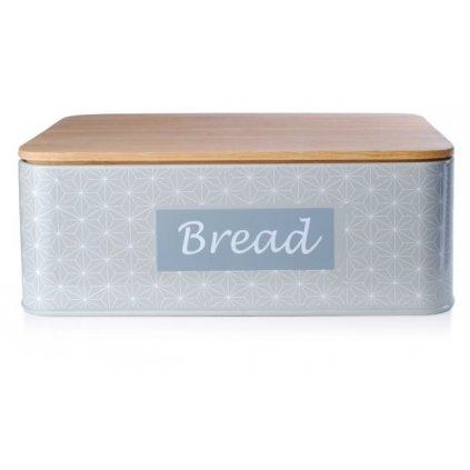Chlebník s dreveným poklopom 32,5x21x11,5 cm