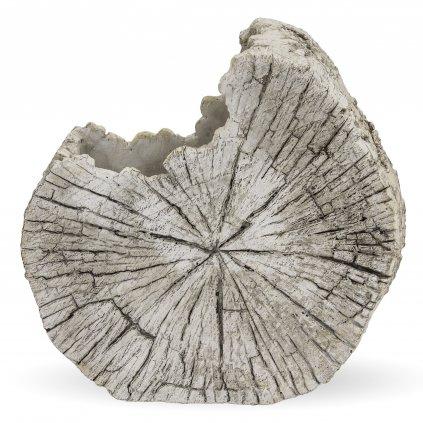 kvetináč betónový plat dreva šedý 24x24,5x11cm