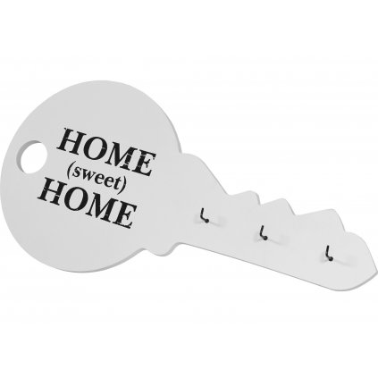 vešiak na kľúče drevený biely 19,5x40x2,5cm