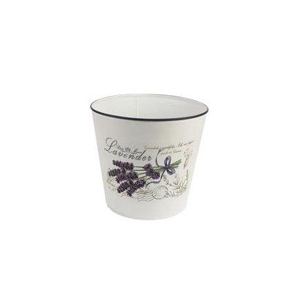 plechový kvetináč levanduľa 18x17cm