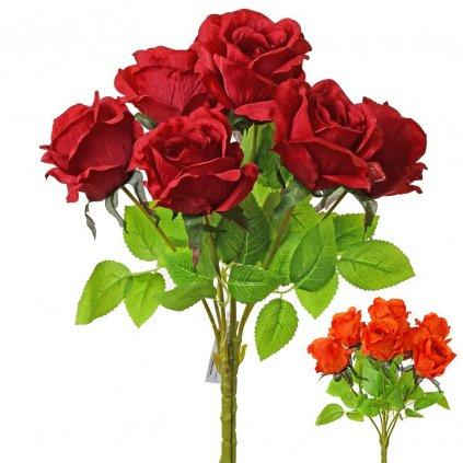 umelá KYTICA RUŽA 2F 45cm