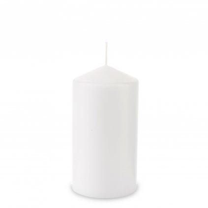 sviečka hladka biela 15x8x8cm