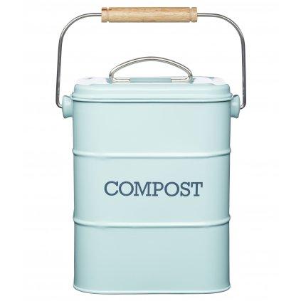 Plechový kompostér Living Nostalgia modrý 16,5x12x24cm