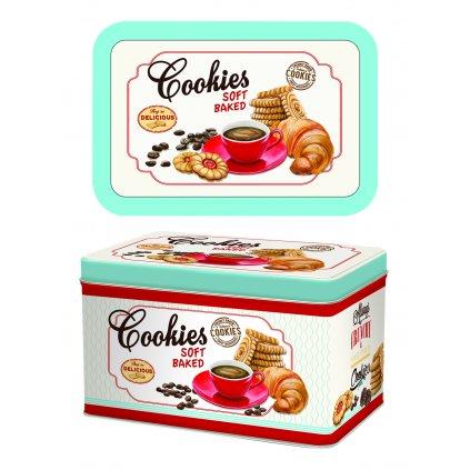 Plechová dóza na sušienky Cookies  22x14x13cm