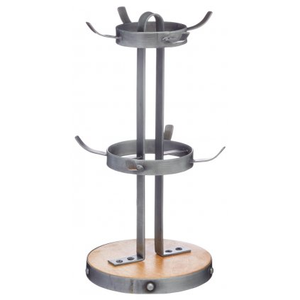 Kovový stojan na hrnčeky Industrial Kitchen 18x32cm
