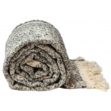 Pletená deka Joren čierna 140x152cm