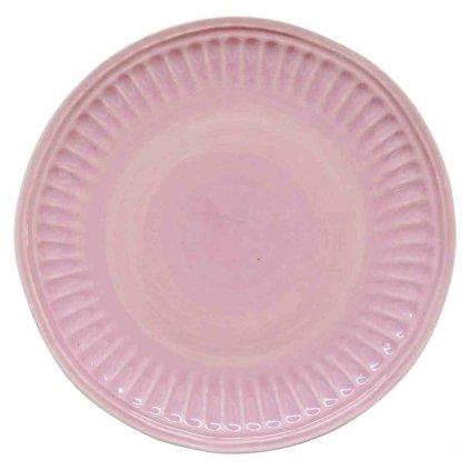 Porcelánový dezertní talíř Abitare světle růžový