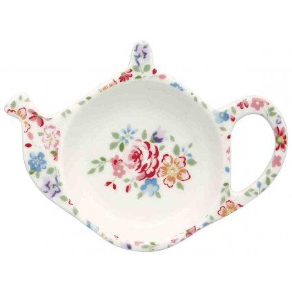 Porcelánová miska na čajový sáčok Clementine White  3,8x10x12,5cm