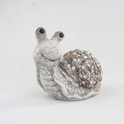 slimák kamienky šedý mgo keramika 31×23×16cm