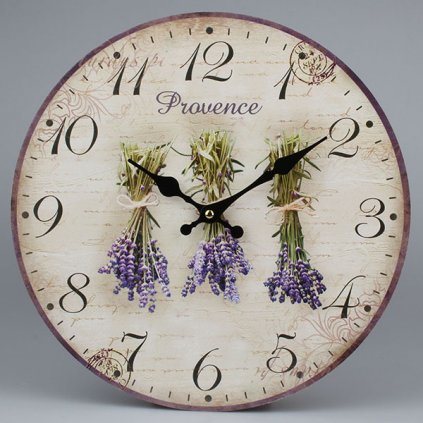 hodinky nástenne visiaca levanduľa mdf 34 ×1 ×34cm