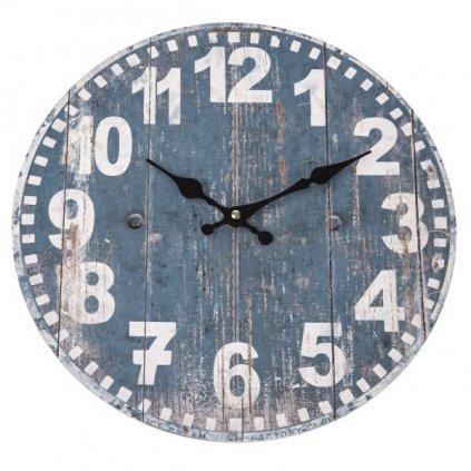 hodinky nástenne modré mdf 34 ×1 ×34cm