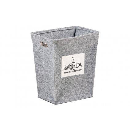 Kôš na prádlo z plsti svetlo šedý  balený v papierovej krabičke 47x34x55cm