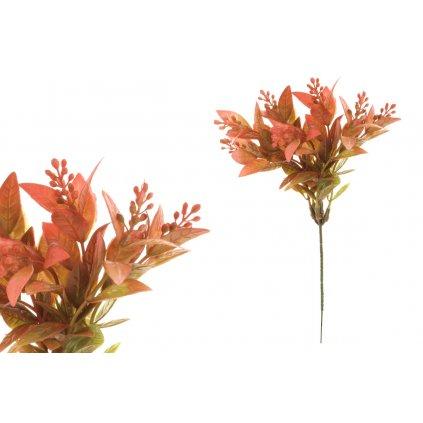 Umelá kvetina tmavočervená 27cm