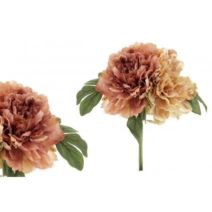 Hortenzia ružová umelá kytica 28cm