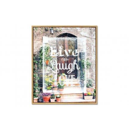 Obraz pohľad na vchodové dvere Live Laugh Love