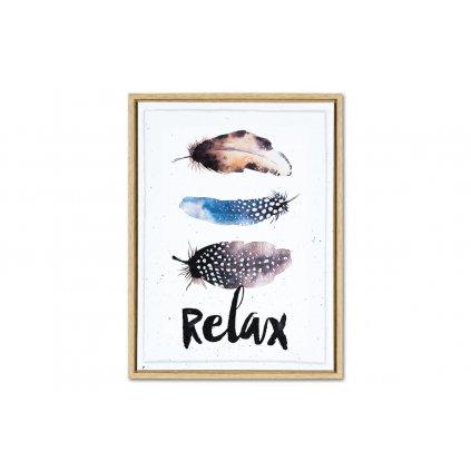 Obraz na plátne listy Relax v drevenom rámčeku 30x40x2,5cm