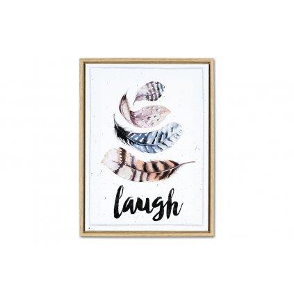 Obraz na plátne listy Laugh v drevenom ráme 30x40x2,5cm