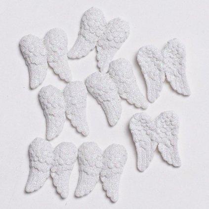 anjelské krídla biele vianočná dekorácia cena za 8ks