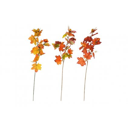 Jesenná umelá vetvička, mix 3 farieb 17x66x7 cm cena za 1ks