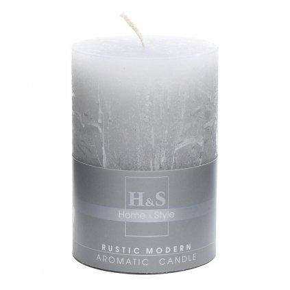 sviečka valec RUSTIC MODERN sivý  70/100cm