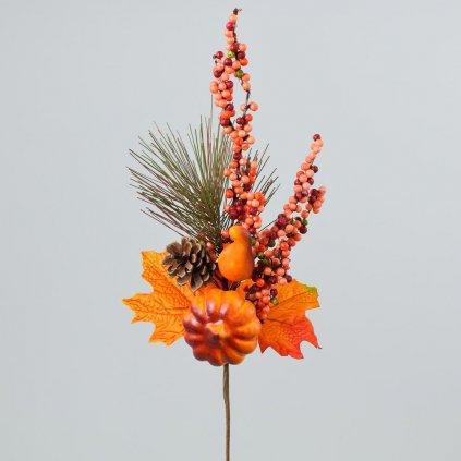 VETVIČKA Jesenná s čečinou oranžová