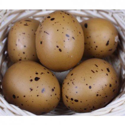 vajcia hnedá kropenatá 5 cm, 6 ks X0031