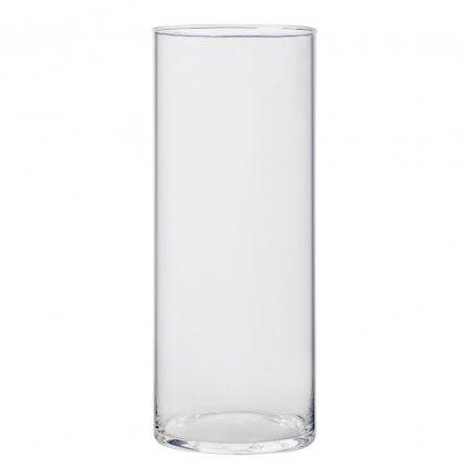 VALEC VÁZA priehľadne sklo V30x12cm