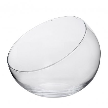 váza  GUĽA ZREZANÁ priehľadne sklo 17cm