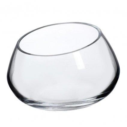 SALATERKA ZREZANÁ priehľadne sklo V8x14cm