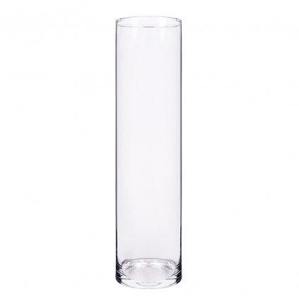 VALEC VÁZA priehľadne sklo V40x10cm