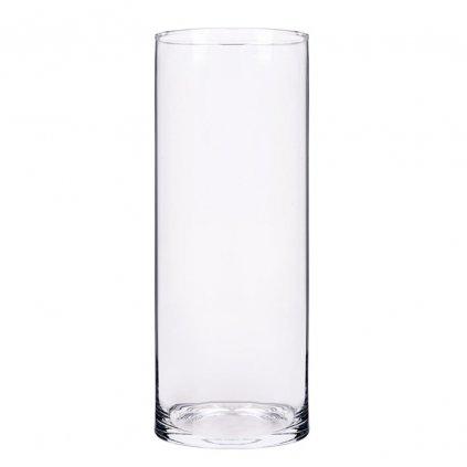VALEC VÁZA priehľadne sklo V40x15cm