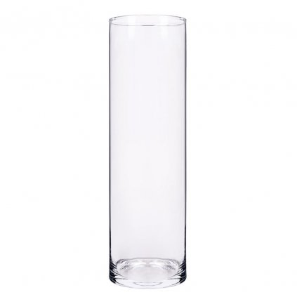 VÁZA VALEC  priehľadne sklo V40x12CM