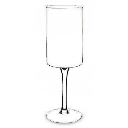 pohár na stopke priehľadne sklo 50x15,5x15,5cm
