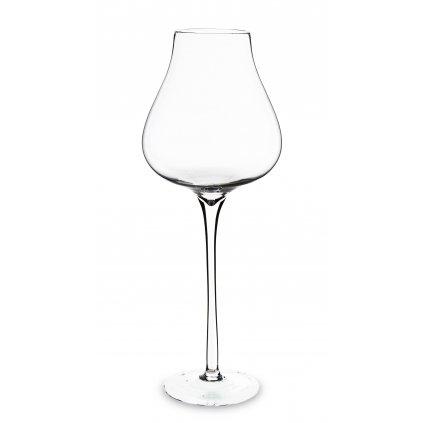 pohár na stopke priehľadne sklo 70x27x27cm