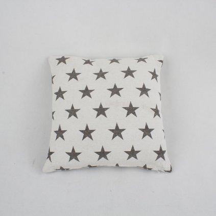 návlek na vankúš biely s hviezdičkami 40×40cm