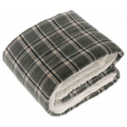 Kockovaná deka Bingley šedo čierna 150x200cm